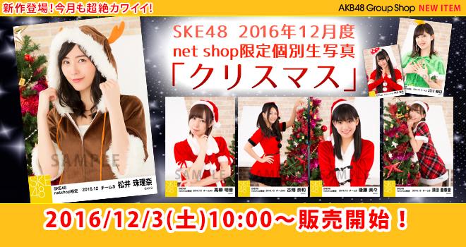 SKE48 2016年12月度 net shop限定個別生写真「クリスマス」5枚セット