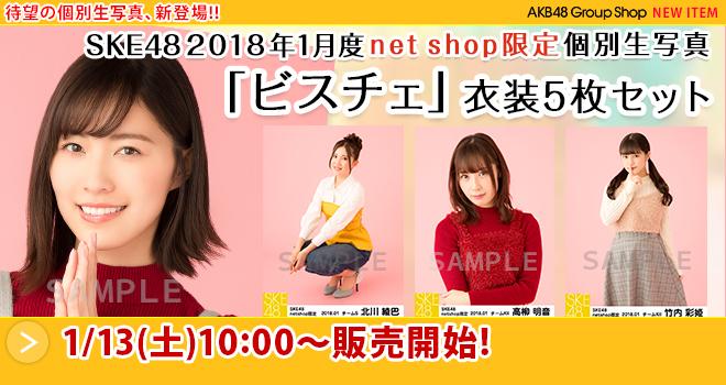 SKE48 2018年1月度 net shop限定個別生写真「ビスチェ」衣装5枚セット