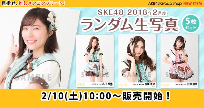 SKE48 2018年2月度 ランダム生写真5枚セット