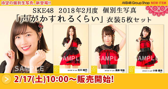 SKE48 2018年2月度 個別生写真「声がかすれるくらい」衣装5枚セット