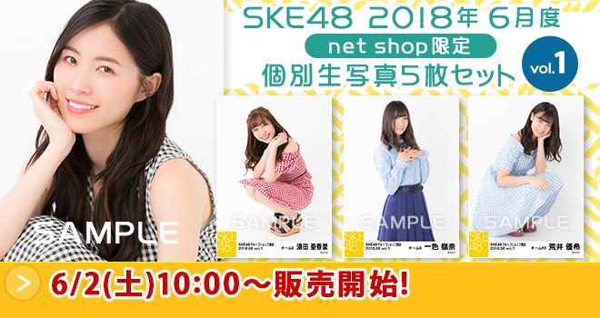 SKE48 2018年6月度 net shop限定個別生写真5枚セットvol.1