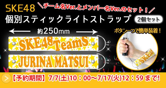 SKE48 個別スティックライトストラップ2個セット