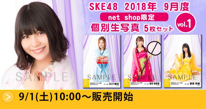 SKE48 2018年9月度 net shop限定個別生写真5枚セットvol.1
