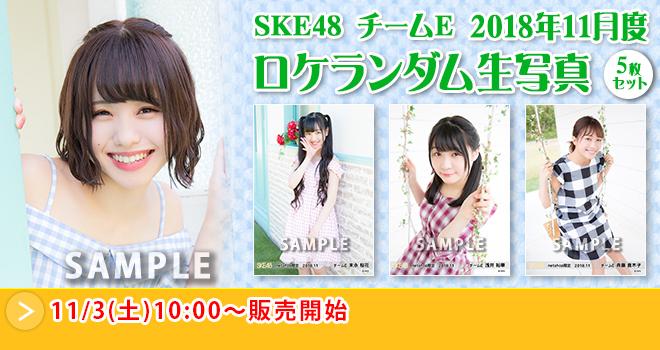 SKE48 チームE 2018年11月度 ロケランダム生写真5枚セット
