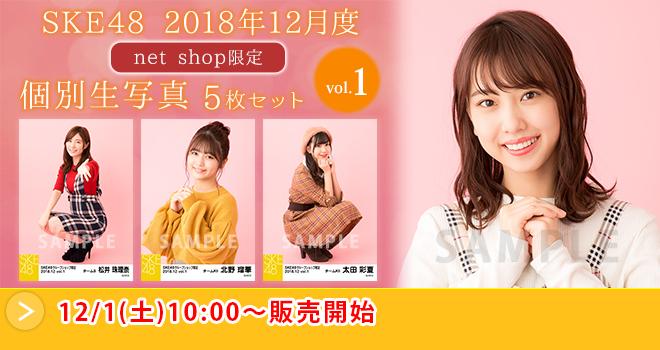 SKE48 2018年12月度 net shop限定個別生写真5枚セットvol.1(01)