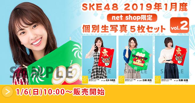 SKE48 2019年1月度 net shop限定個別生写真5枚セットvol.1