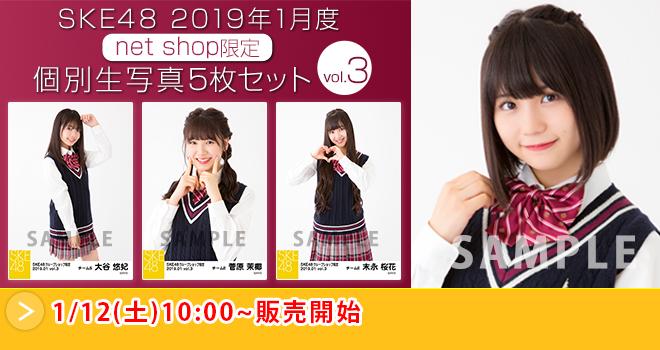 SKE48 2019年1月度 net shop限定個別生写真5枚セットvol.3(01)